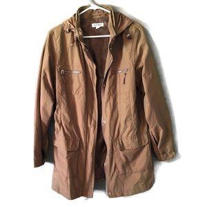 Cherokee Khaki Tan Long Zip Utility Jacket